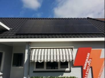 Zwarte zonnepanelen Trina Solar in dak te Bergeijk
