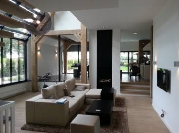 Villa met domotica KNX, Ipad besturing en Sonos in de Kempen